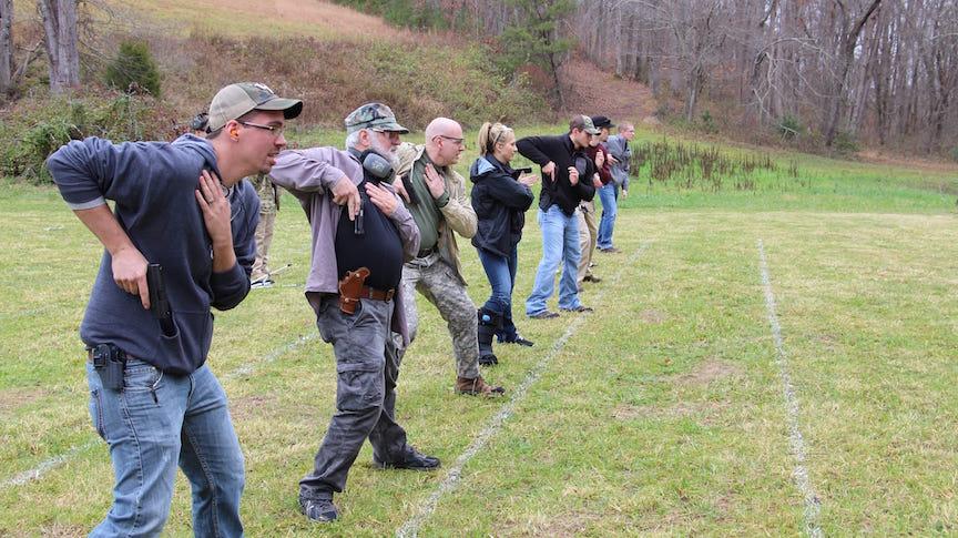 Plenty of Space In the December Pistol Classes
