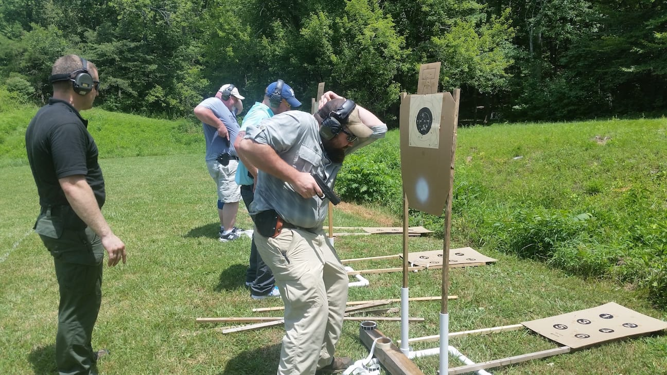 Extreme Close Quarters Retention Shooting - Tactical Handgun Training London KY