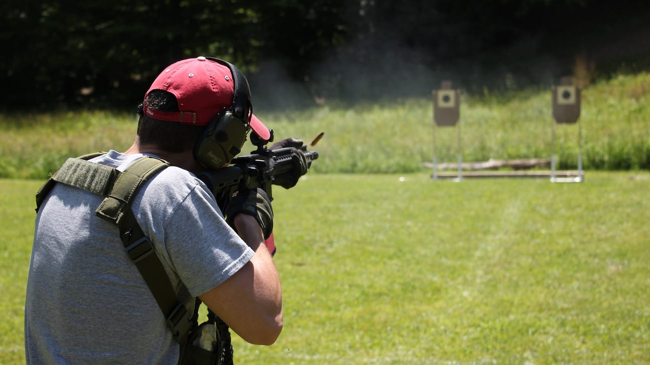 Engaging targets with an AR15 fighting carbine