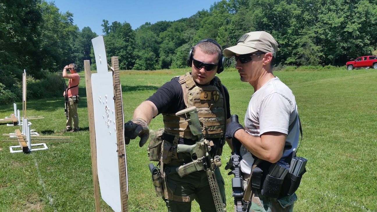 Checking groups during the zeroing exercise