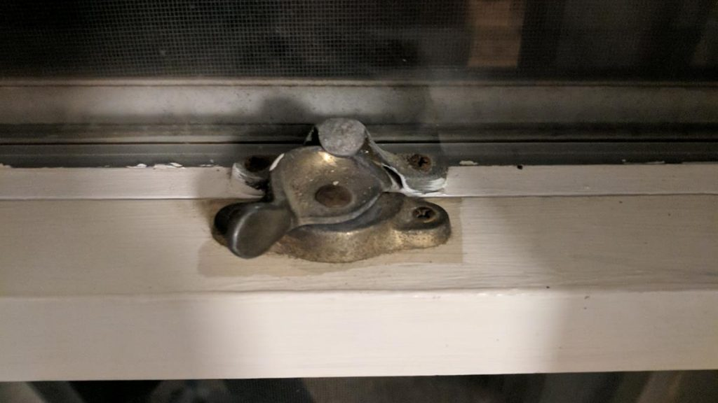 crappy window lock
